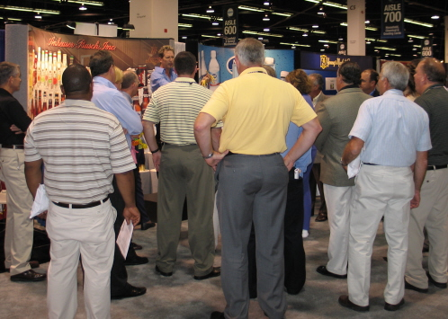 Rick Attracts A Trade Show Crowd